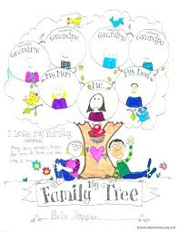 Family Tree Template For Kids Sample Of Project 5th Grade