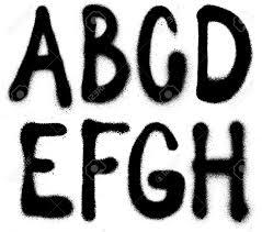 detailed graffiti spray paint font type part 1 vector alphabet stock vector 23900292