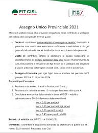 Assegno Unico Provinciale 2021