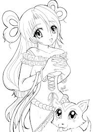 Female Anime Coloring Pages At Getdrawingscom Free For Personal