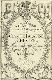 frontispiece from antique book c 1656