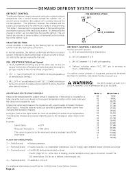 Trane Temp Sensor Resistance Chart Demand Defrost System Warning Trane Wcy024g1 User Manual