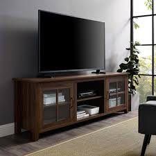 glass door console tv stand for tvs up