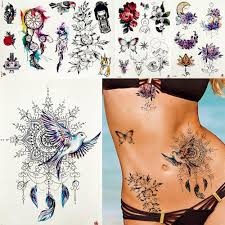 женщины Dreamcatcher мира голубь птицы татуировки временные племенной перо тела руку