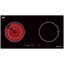 Bếp Âm Đôi Từ - Hồng Ngoại Malloca MH-02IR (72 cm) - Hàng Chính Hãng