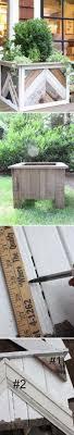 reclaimed wood chevron stripe planter boxes