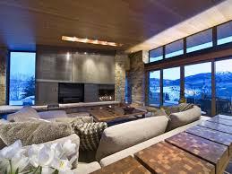 mountain modern furniture. Elegant Furniture Modern Mountain Resort That Has White Sofas And Cushion It Also Grey L
