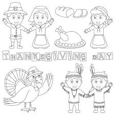 Indian Girl Coloring Page Pilgrim Coloring Pages Thanksgiving Day