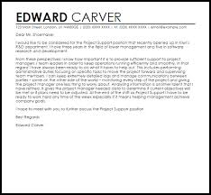 project support cover letter sample cover letter for it support