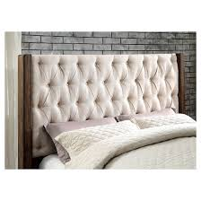 Sun & Pine Alva Transitional Tufted Wingback Bed With Drawers