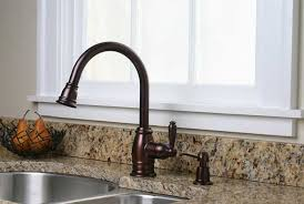 oil rub bronze kitchen faucet granite countertops and white window and satainless steel sink brass to oil rubbed bronze