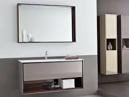 Bathroom Ideas Large Bathroom Mirror With Shelf Hanging On Dark - Bathroom mirror design ideas