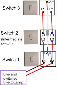 with the old wiring colours three way switching