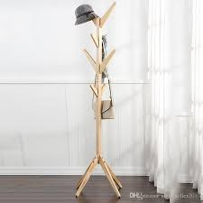Coat And Hat Racks Magnificent 32 Modern Hangers Wood Coat Hat Rack Household Bedroom Hall Stand