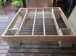 Stage 1 of our homemade sturdy king size bed frame | Bed | Pinterest ...