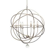 incredible large orb chandelier restoration hardware foucaults iron