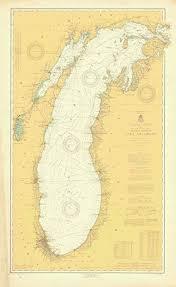 Lake Michigan Nautical Chart Amazon Com Map General Chart Of Lake Michigan 1919