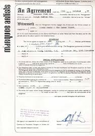 music management contract david bowie 1965 marquee club contract signed by management