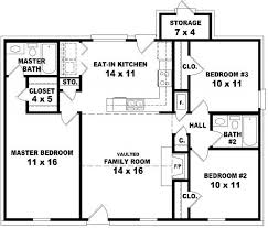 3 Bedroom 2 Bath House Plans Interesting Decorating Design
