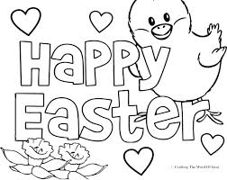 Free Easter Coloring Printouts Pages Disney Online Egg Religious