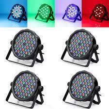 Dj Led Par Light Us 106 5 29 Off 4pcs Dmx 54 Lamps Rgbw Led Par Light For Disco Party Dj Led Projector Stage Strobe Lighting Effect In Stage Lighting Effect From