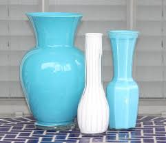 Creative Idea:Cool Vase Glass Painting On Blue Tiles Flooring Cool Vase  Glass Painting On