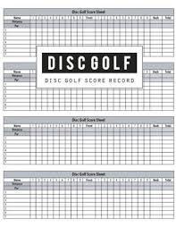 golf log disc golf score record disc golf game record keeper book disc golf