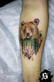 лес с медведем тату тату медведь идеи и фото что значит тату