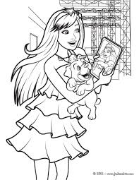 Coloriage De Barbie Princesse Et Popstar Avec Sa Photo Et Son