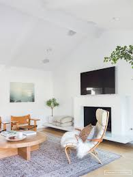 Living Room Interior Designer Before Afterclient Of The Mid Century Amber Interiors