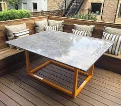 custom outdoor dining table custom