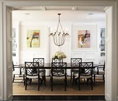 transitional dining room by blue tangerine art casual dining room lighting