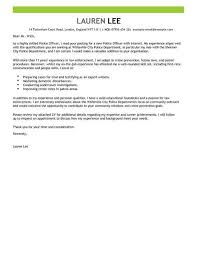 Police Officer Cover Letter Example Cover Letter Templates