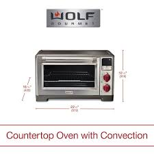 wolf gourmet countertop oven elite red scroll to next item