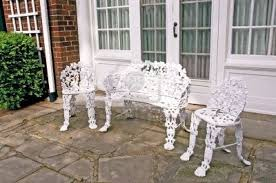 white cast iron patio furniture. Wrought Iron Garden Furniture. Stylish Patio Set Furniture Throughout White With P Cast D