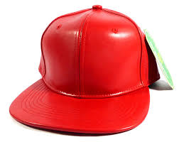 home all hats blank faux leather snapback hats whole red