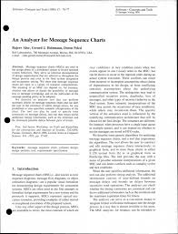 Pdf An Analyzer For Message Sequence Charts