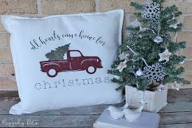 Choose from hundreds of free christmas pictures. How To Make An Easy Christmas Red Truck Farmhouse Pillow