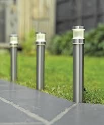 garden bollard lighting. ledlux 2w bollard in stainless steel garden lighting i
