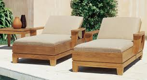 high end garden furniture. chaiseloungeteakoutdoorfurniturewithcreamcushion high end garden furniture