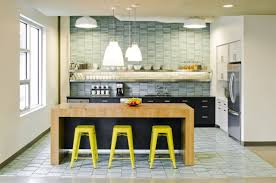 cool office space design. View In Gallery Bright Seating Options At The Kitchen Counter Cool Office Space Design