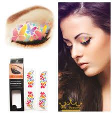 Eye Makeup Sticker Designs 4pcs Lot Temporary Eye Tattoo Water Transfer Eyeliner Party