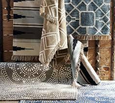 pottery barn alameda diamond maze synthetic indoor outdoor rug blue pottery barn pottery barn alameda ca