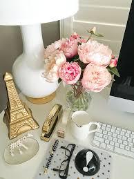 office desk accessories ideas. stylishpetitecom desk accessories faux silk peonies gold eiffel tower office ideas o