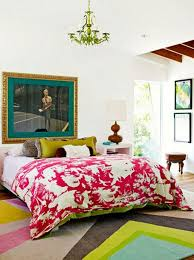 Careful use of color is what makes an eclectic bedroom work.