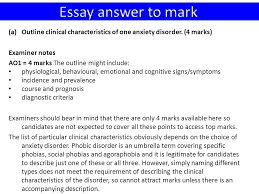 phobic disorders ppt  40 essay answer to mark outline clinical characteristics of one anxiety disorder