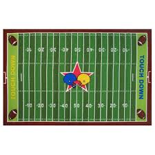 3 x 5 small football field multi color area rug fun time