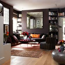 Wall Color Schemes For Living Room Black Wall Color For Charming Living Room Interior Design With