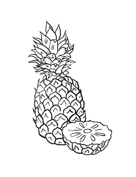 Small Picture Free Pineapple Coloring Page