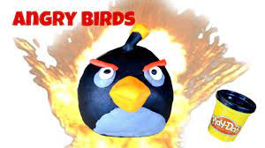 Angry Birds Play-Doh Bomb Bird Tutorial - YouTube